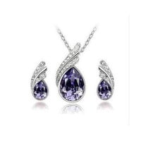 Silver Plated Earrings Necklaces Bridal Jewelry Sets