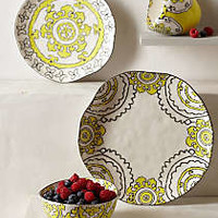 Gloriosa Dinner Plate by Anthropologie Yellow Dinner Plate Dinnerware