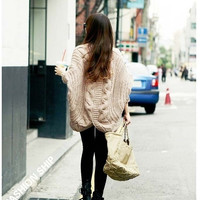 Fashion Women winter Warm Batwing Sweater Coat Wool Knitted Cardigan Outwear one size = 1945954500