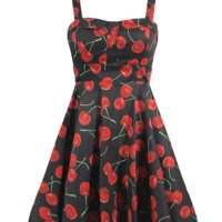 "Women's ""She's My Cherry Bomb"" Dress by Double Trouble Apparel (Black)"