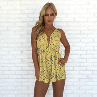 Little Miss Sunshine Floral Romper