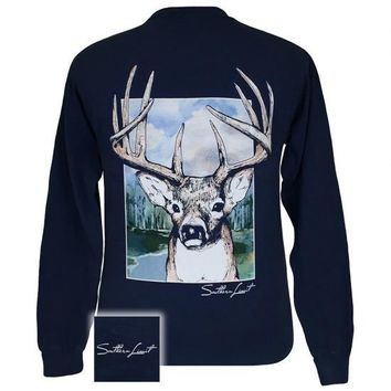 Southern Limits Buck Deer Unisex Comfort Colors Long Sleeve T-Shirt