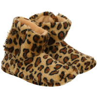 Alice Leopard Slipper Boots in Brown