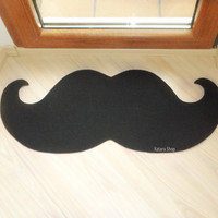 Curl mustache floor mat . Elegant doormat. Choose the color of your mat.