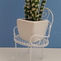 Potted Artificial Mini Succulent Plant and Plant Holder Set
