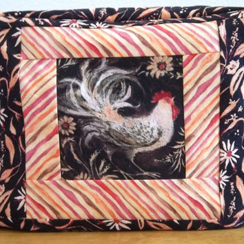 Quilted Toaster Cover - 2 slice toaster-Rooster