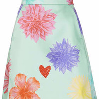 Limited Edition Floral Heart A-line Skirt - Mint