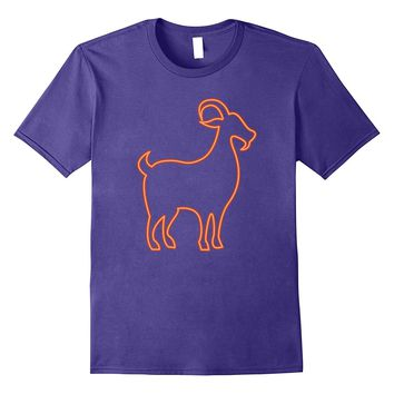 80s Retro Neon Sign Goat T-Shirt. 80's Gift