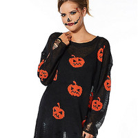 Adult Pumpkin Sweater Costume - Spirithalloween.com