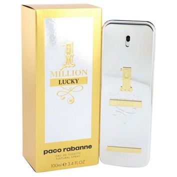 1 Million Lucky by Paco Rabanne Eau De Toilette Spray 3.4 oz