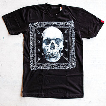 B WOOD - The Death Bandana Tee  Black