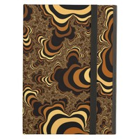 Cool brown stripped fractal. case for iPad air