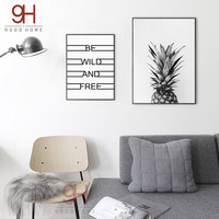 900D Posters And Prints Wall Art Canvas Painting Wall Pictures For Living Room Nordic Decoration Pineapple NOR5