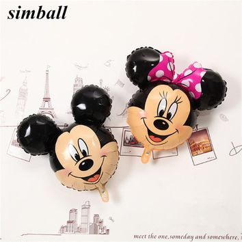 1PCS Mickey Minnie Mouse Balloon Cartoon Foil Balloons Birthday Party Balloon Mickey Mouse Birthday Balloons Party Decorations