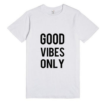 Summer GOOD VIBES ONLY Print T-Shirts for Women Gift 151