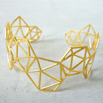 Geodesic Bracelet, Architectural jewelry, urban jewelry