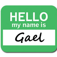Gael Hello My Name Is Mouse Pad