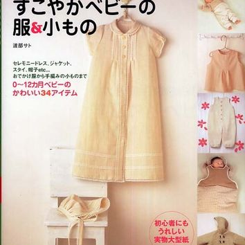 Organic Cotton Lovely Baby Clothes & Zakka Goods by Sato Watanabe - Japanese Sewing and Knitting Pattern Book - B60