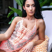 LUCY SWIMSUIT IN CORAL