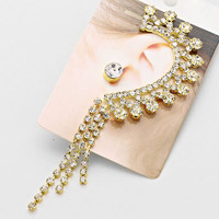 Ear Cuff Rhinestone Earrings