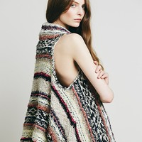 Free People Multi Yarn Fringe Vest