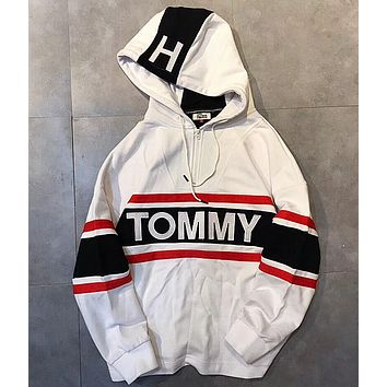 """ Tommy Hilfiger "" Women Men Embroidery Hot Hoodie Cute Sweater"