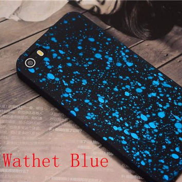 HOT Milky Way Starry Sky Glitter Star PC Hard 3D Case for iPhone 5S 6 6s 7 plus Back Cover 3D Visual Effect Mobile Phone Cases