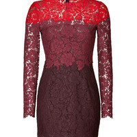Valentino - Heavy Lace Dress in Red/Scarlet/Ruby