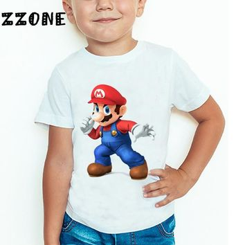 Super Mario party nes switch Baby Boys and Girls The  Bros Game Cartoon Fashion T shirt Children Short Sleeve Summer Tops Kids Clothes,HKP5185 AT_80_8
