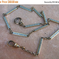 SALE Antique S.O.B Co Pocket Watch Chain