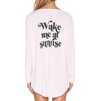 Wildfox Couture Wake Me At Sunrise Sleep Shirt in Ghost Pink