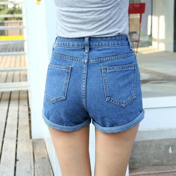 High Waisted Denim Women Shorts