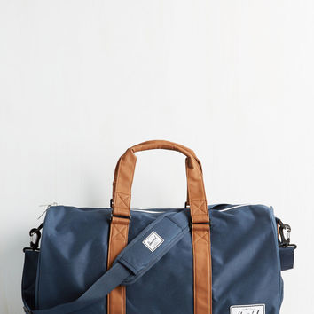 Away With Words Weekend Bag in Navy | Mod Retro Vintage Bags | ModCloth.com