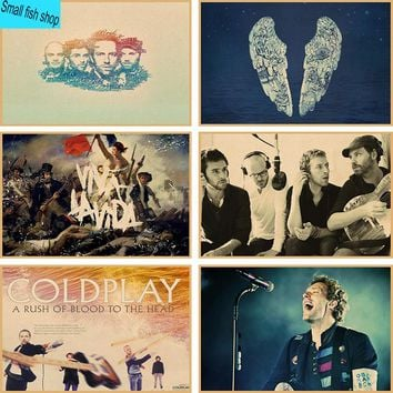 Coldplay Home Furnishing decoration Kraft acid rock music Poster Drawing core Wall stickers