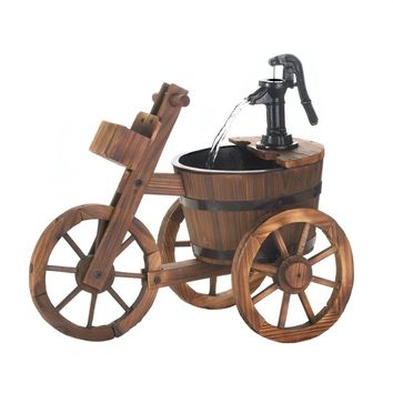 Tricycle Style Garden Water Fountain