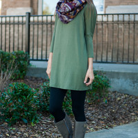 Live For Me Tunic, Olive
