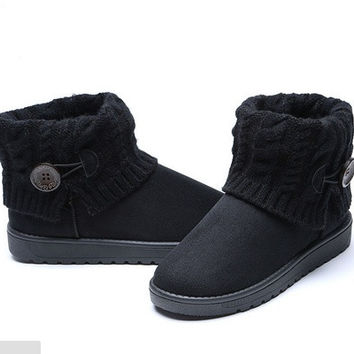 2015 winter women's boots warm casual snow knitted boots [8834071628]