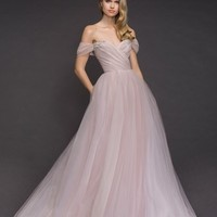 Blush by Hayley Paige Milo Off the Shoulder Tulle Ballgown | Nordstrom