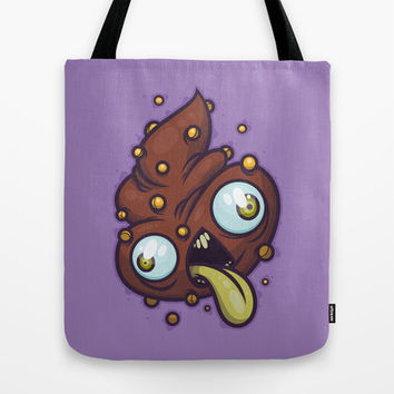 Poop Tote Bag by Artistic Dyslexia