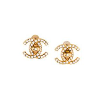 Chanel Vintage Cc Turnlock Clip On Earrings - Amore - Farfetch.com