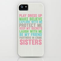 sisters iPhone & iPod Case by studiomarshallarts