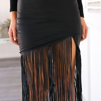 Lucia Fringed Skirt - PREMONITION COLLECTION
