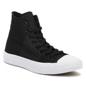 Converse All Star Chuck Taylor II Mens Black/Storm Wind Trainers