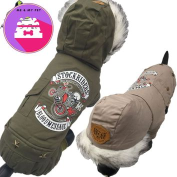 Pet Cat/ Dog Letter Printed  Warm Winter Bomber Jacket