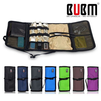 BUBM Brand Fashion Organizer Roll UP Winder Earphone Portabla Electronics Hard Drive Storage Bag Stable Travel Cable Organizer