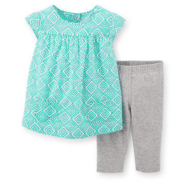 2-Piece Woven Top & Capri Legging Set
