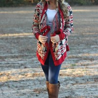 You're Not Dreaming Cardigan: Wine/Navy - Lavish Boutique