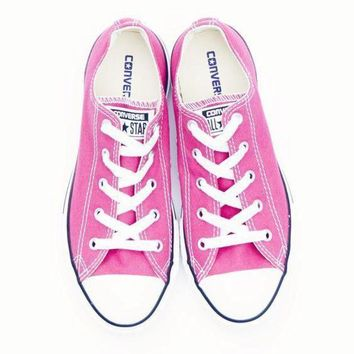 CREYUG7 Converse' Fashion Canvas Flats Sneakers Sport Shoes pink