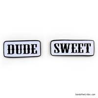 DUDE & SWEET // FRIENDSHIP ENAMEL PINS