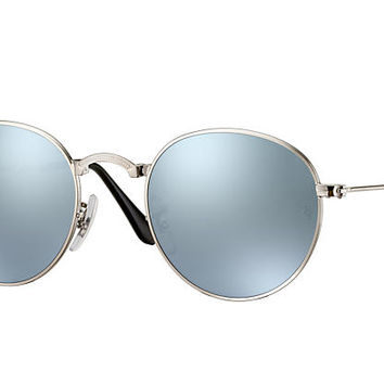 ROUND METAL FOLDING Sunglasses Silver Metal, Silver Flash Lenses - RB3532 | Ray-Ban® UK